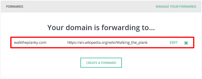 How to: Forward your domain name to another website – Hover Help Center